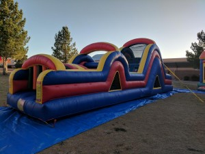 40 ft Dual lane racing Obstacle course with 15 ft slide - $230