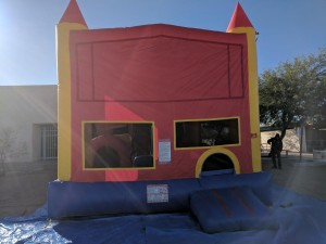 Big 4 in 1Module 2 Has a jumping area, basketball hoop, Obstacle course and a 15 ft slide inside - $230